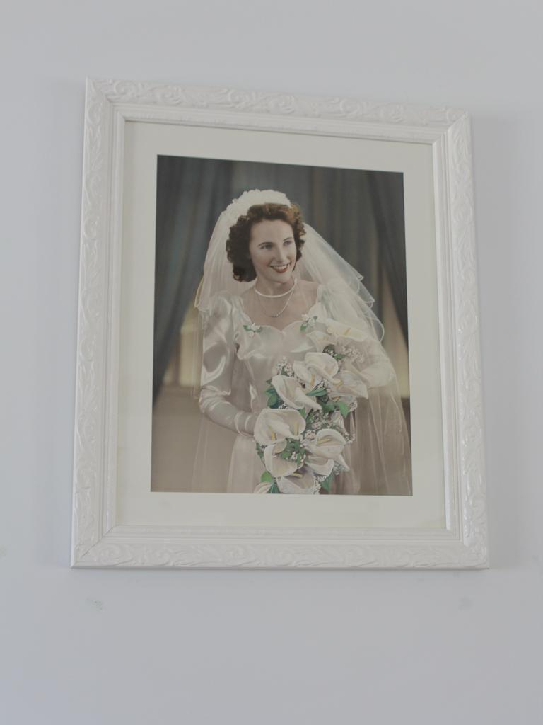 Pat Sander on her wedding day.