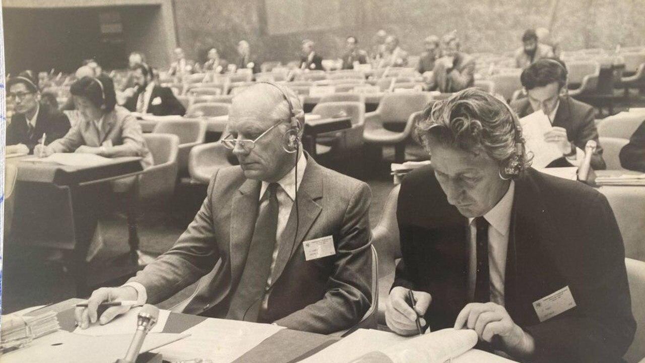 Keith Sander representing the International Telecommunications Union in Geneva.