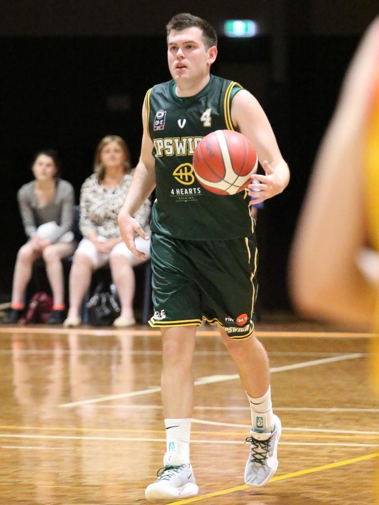Ipswich Force captain Jason Ralph plots his next move in the QSL semi-final against Brisbane Capitals. Picture: Megan Low