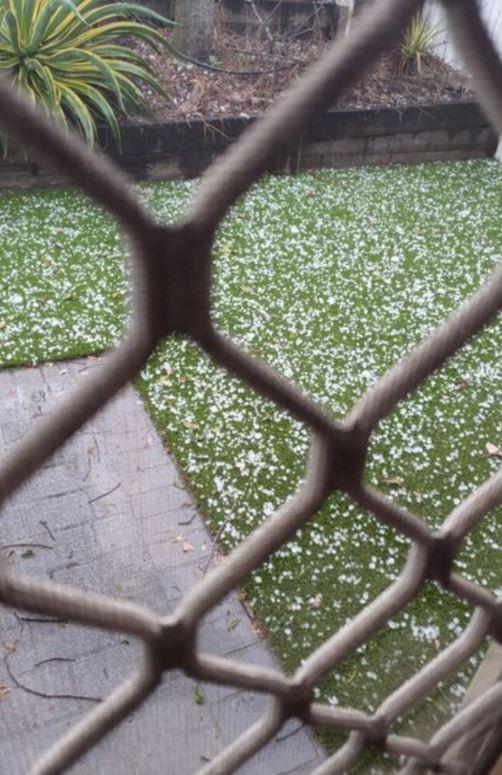 Hail has fallen in Acacia Ridge. Picture: Supplied