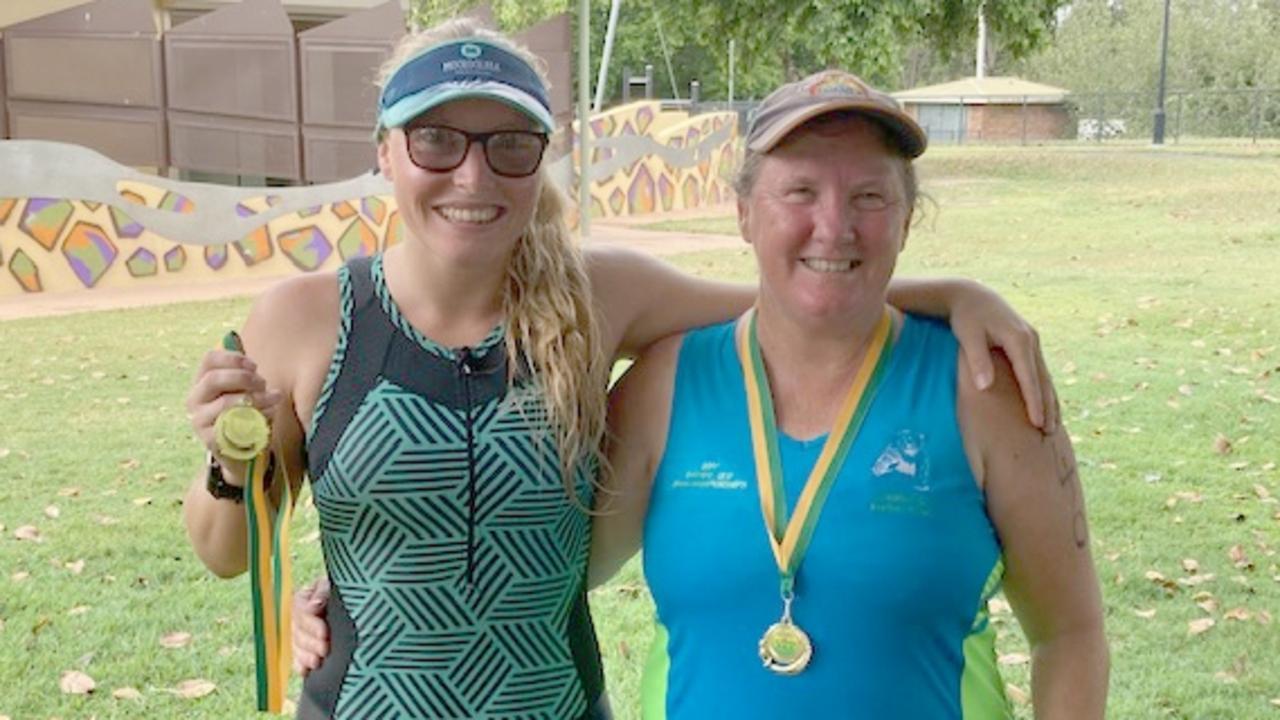 Rockhampton's Natalie Koehler and her mum Margaret were among the competitors at the Rockhampton Triathlon on Sunday.