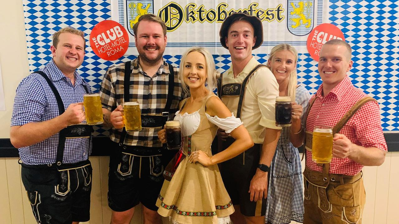 Oktoberfest at The Club Hotel, Roma. October 24, 2020.