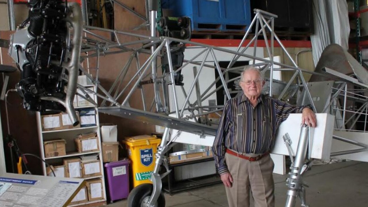 Keith Miller with the plane getting restored.