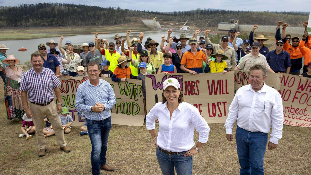 Queensland opposition LNP leader Deb Frecklington visits Paradise Dam as part of the LNP's commitment to fix it and restore it to its full previous supply level. NCA NewsWire / Sarah Marshall