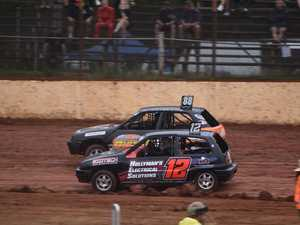 WET & WILD: Racing action from Maryborough Speedway