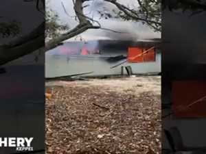 WATCH: GKI resort buildings up in flames in alleged arson