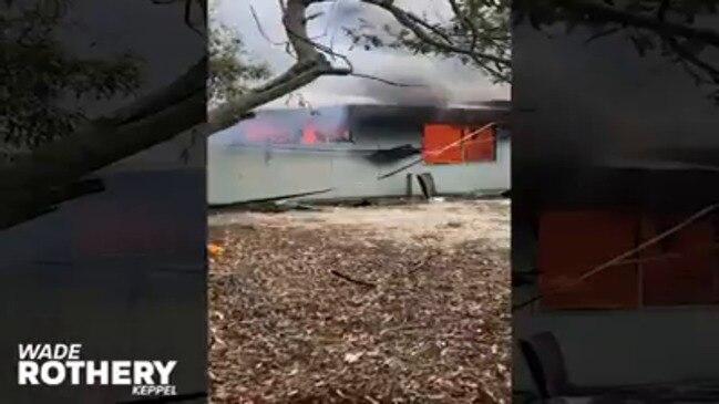 WATCH: GKI resort buildings up in flames in alleged arson