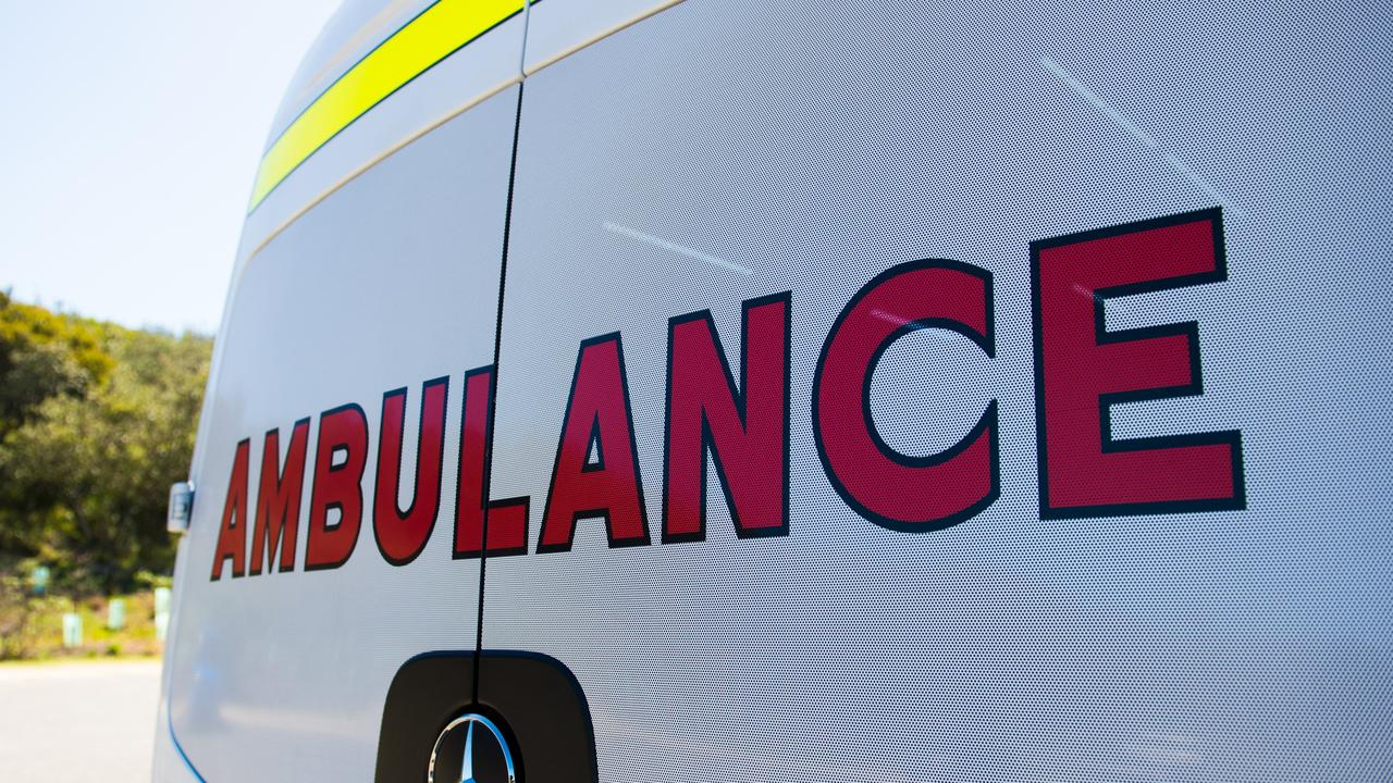Paramedics have taken a woman to hospital after she suffered burns to her face.