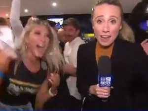 TV reporter flees amid NRL mayhem