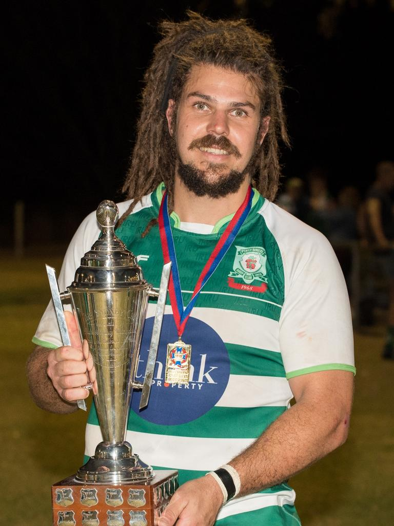 Rangers captain Cal Waldrum was named man of the match in the Normanby Cup grand final at Woodend Park. Picture: Bruce Clayton