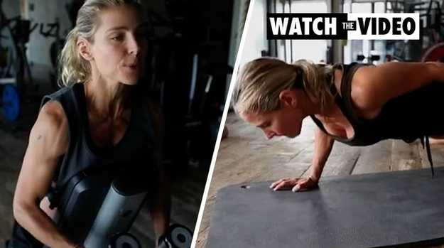 Elsa Pataky's jaw-dropping workout video