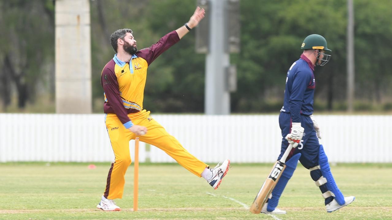 CQ Centurions vice-captain Joe McGahan took three wickets in the team's win over Mackay-Whitsunday on Saturday. Photo: Jann Houley