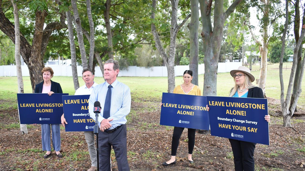 Livingstone Shire Council Mayor Andy Ireland, Councillors Andrea Friend, Adam Bellow and Glenda Mathers oppose the transfer.
