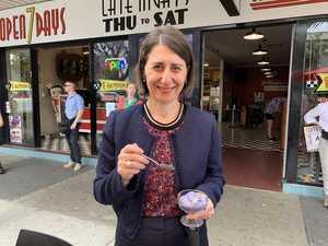 'YUMMO': Premier gets taste of Grafton's Jacaranda ice cream
