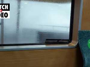 Sydney weather: Manly Ferry battles huge swells