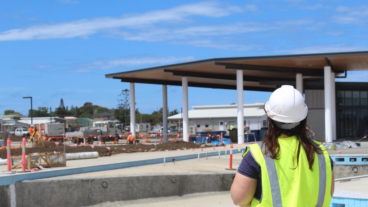 RISING UP: Work is progressing at the RV Lifestyle Village Oceanside at Burnett Heads.