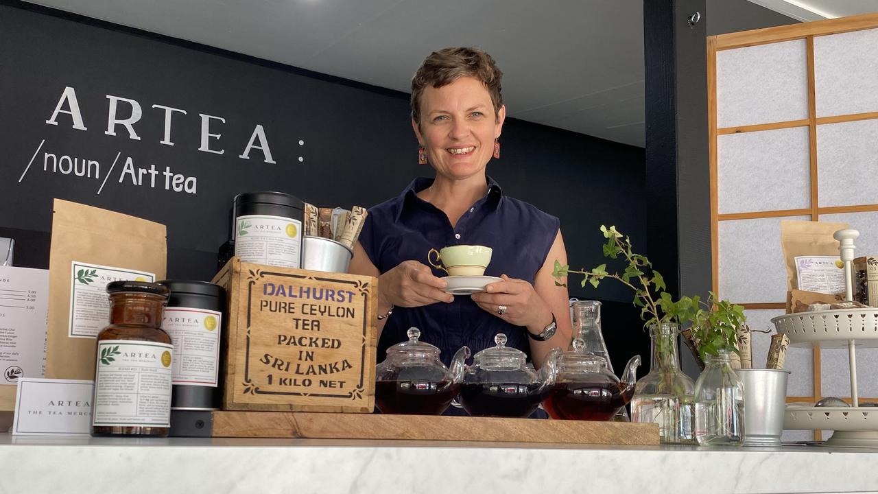 Award-winning tea blender Monica Naples has opened up a retail shop and tea bar, ARTEA in Caloundra. Picture: Supplied