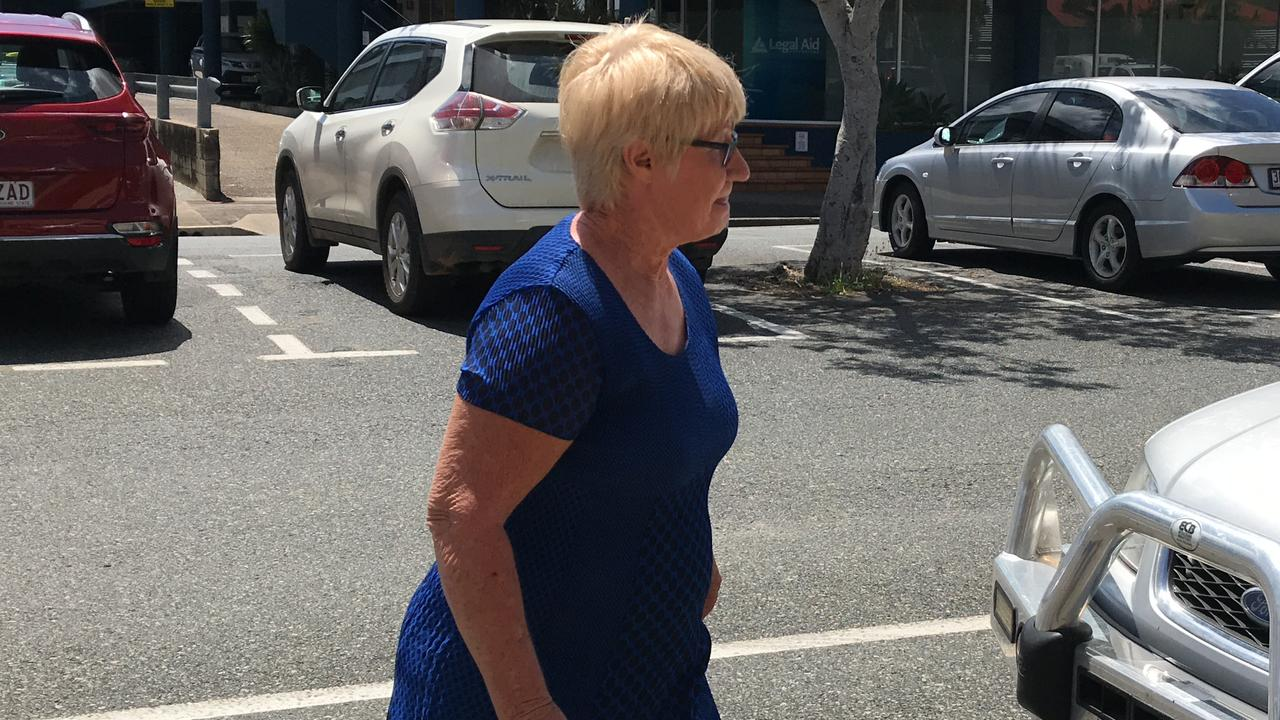 Elizabeth Anne Turner, mother of Mackay business-turned-fugitive Markis Scott Turner, leaves Mackay Magistrates Court after she was committed to the District Court on charges of attempting to pervert the course of justice and giving false testimony. Photo: Janessa Ekert
