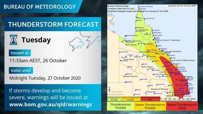 'Very dangerous' storms set to soak Burnett BOM warns