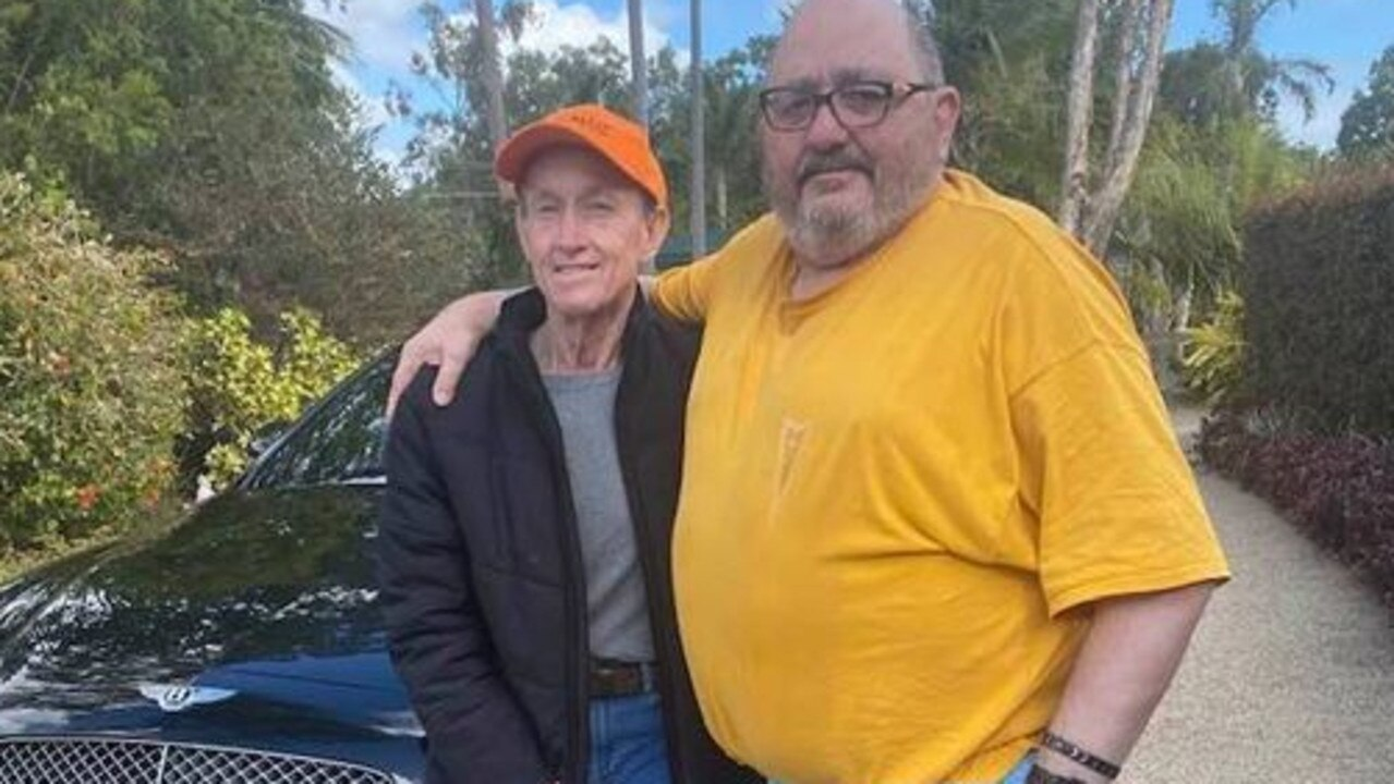 Good mates - Wayne Twigg and Peter Peirano shared a love of cars. Photo supplied.