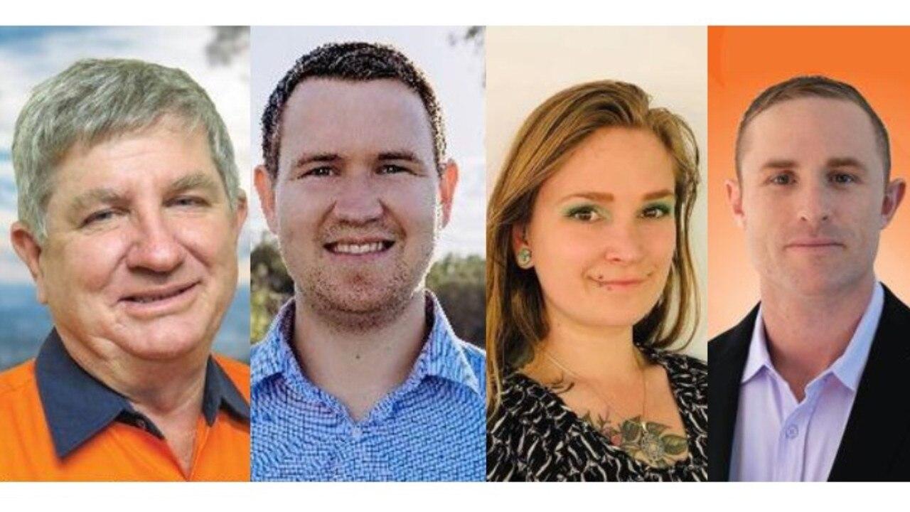 Rockhampton election candidates L-R: Tony Hopkins, Christian Shepherd, Laura Barnard and Torin O'Brien.