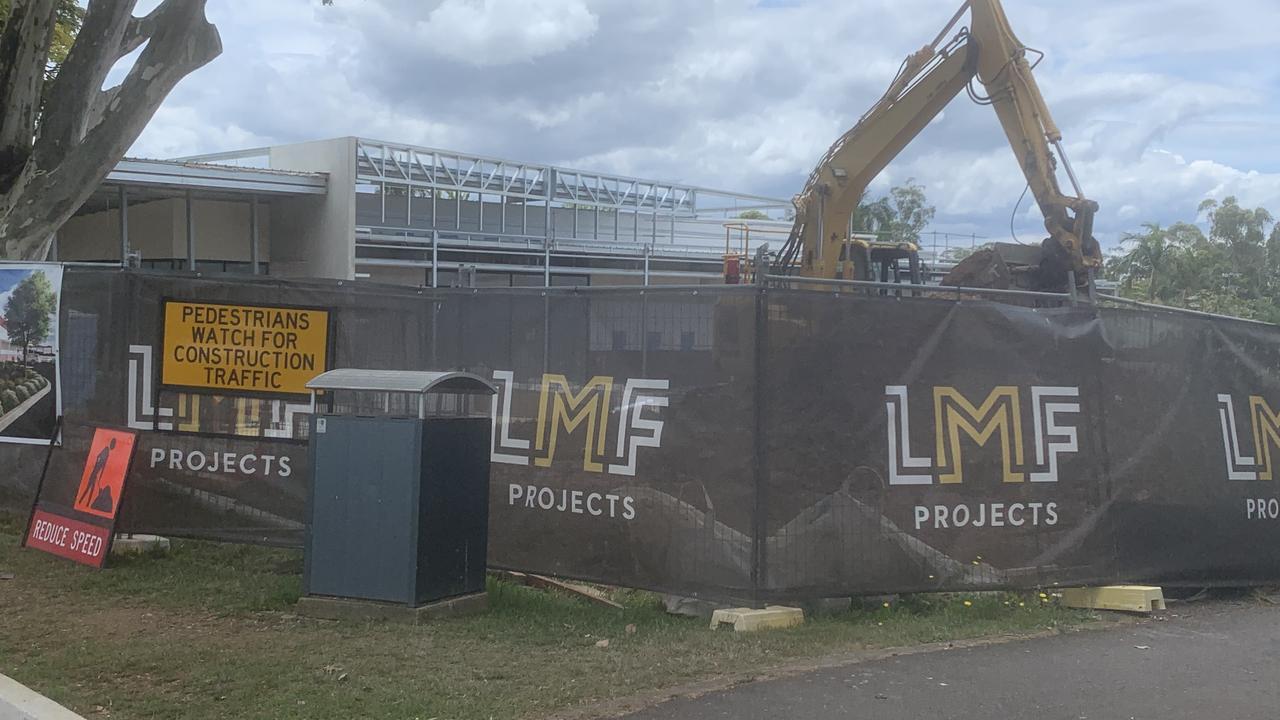 Cooroy's new supermarket under construction.