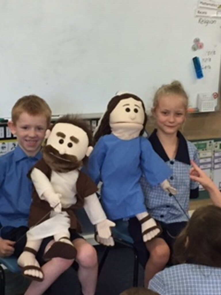 St Joseph's Primary South Grafton students learned about puppetry.
