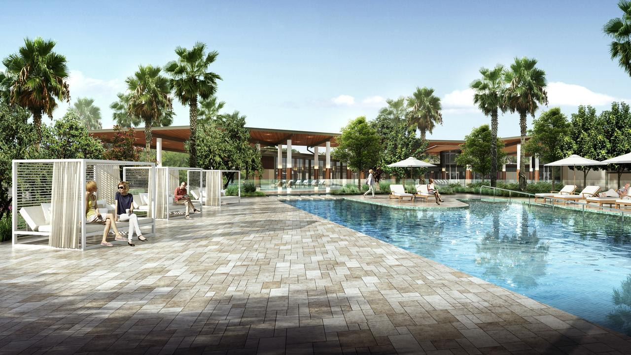 Artist impressions of the RV Lifestyle Village Oceanside community facilities.