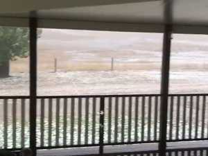 """""""Kerwee"""" near Eidsvold was turned white with hail"""