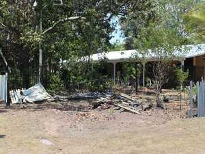 WATCH: Car slams sideways into yard of family home