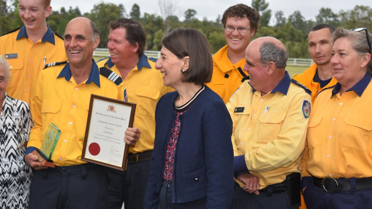 NSW Premier Gladys Berejiklian visited Rappville, handing out awards and grants. Picture: Richmond River Independent