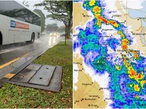 Peak hour washout: Intense rain drenches Coast