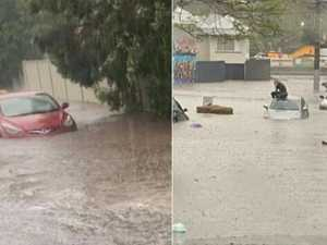 Flash flooding, road chaos as super storm slams SEQ