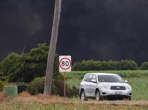 PHOTOS: Crews battle fire that leaves black cloud over Bundy
