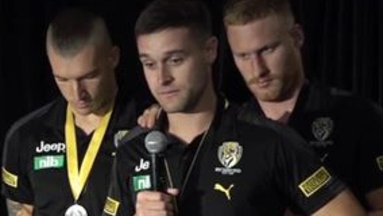 Richmond star Jayden Short breaks down over dad's death during premiership celebrations