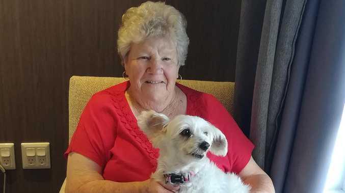 HEARTWARMING: Paw-fect companion brightens care