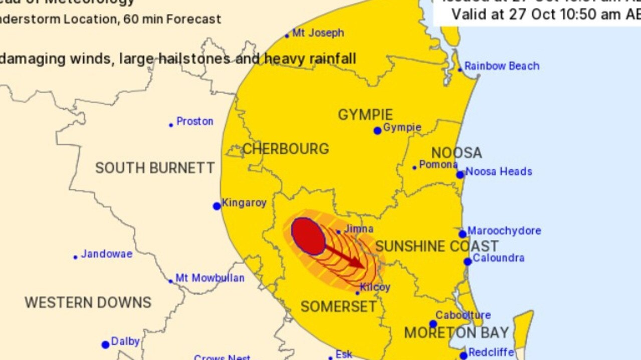 BOM issued a severe storm warning for the Wide Bay and Gympie region. Picture: BOM