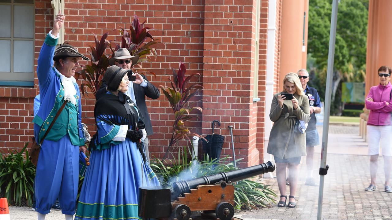 Launch of the Maryborough Mural Trail – firing of the time cannon.