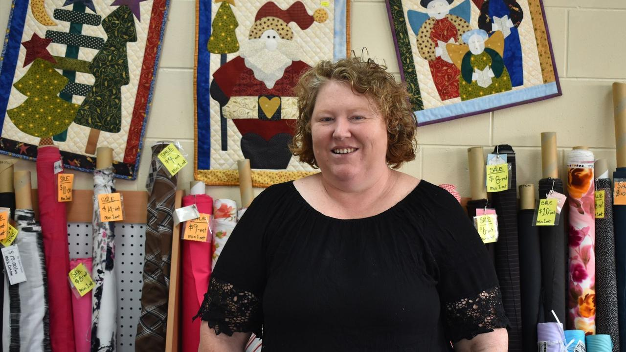 BITTERSWEET: While Julie Morgan admits she's said to be closing The Fabric Palette, she will continue selling items online. Picture: Rhylea Millar