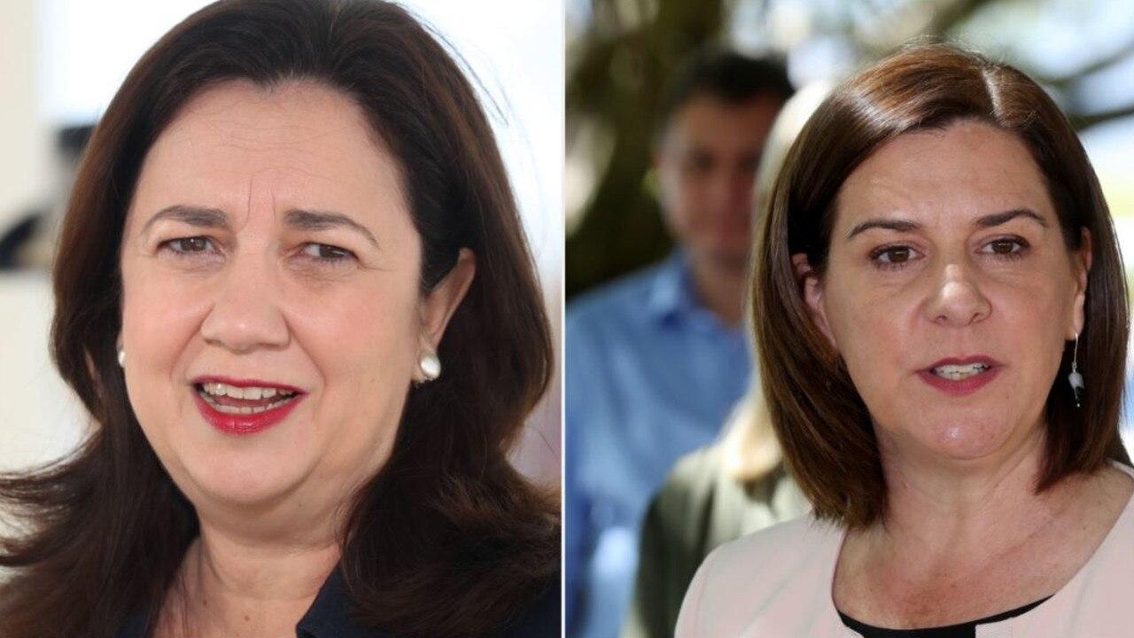 Premier Annastacia Palaszczuk (left) and opposition leader Deb Frecklington.