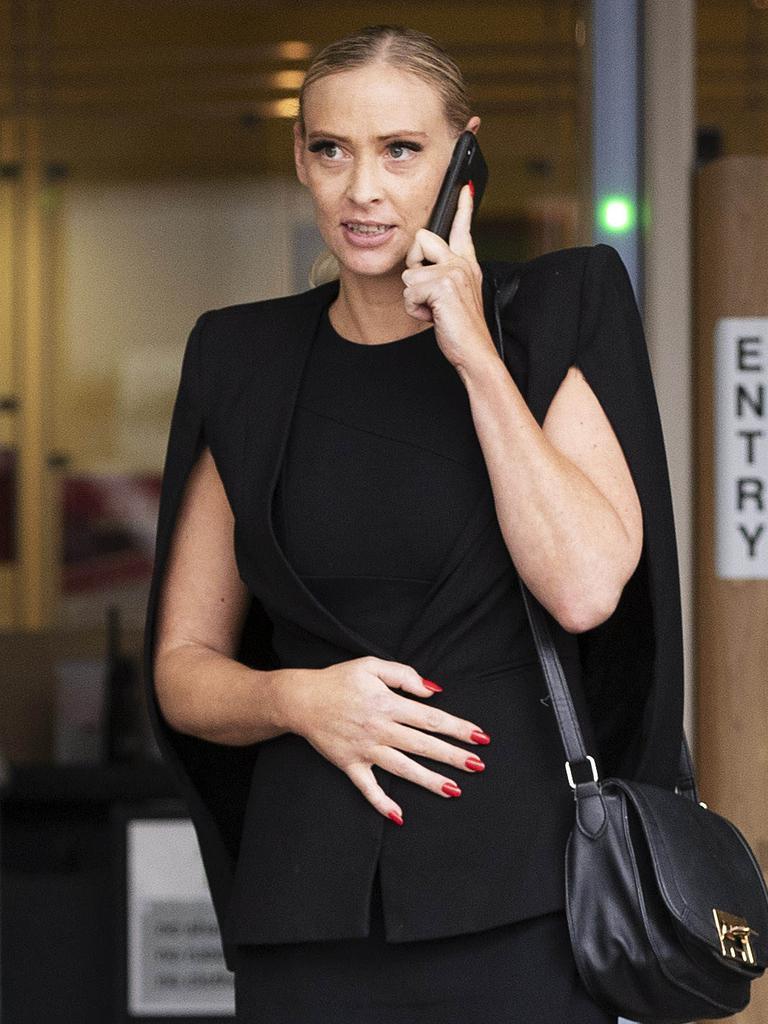 Kimberley Jane Gilberd Cowper leaves Roma St Magistrates Court. (News Corp/Attila Csaszar)