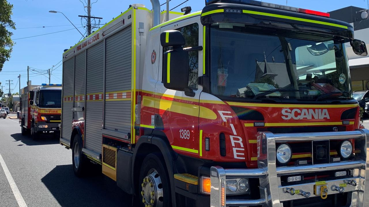 Five QFES crews arrived at the Bargara Rd site about 2pm.