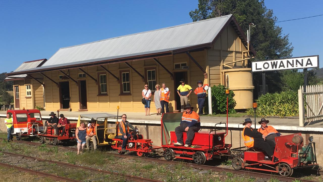 Members of Glenreagh Mountain Railway are hacking through jungle in an effort to assess the state of the rail line.