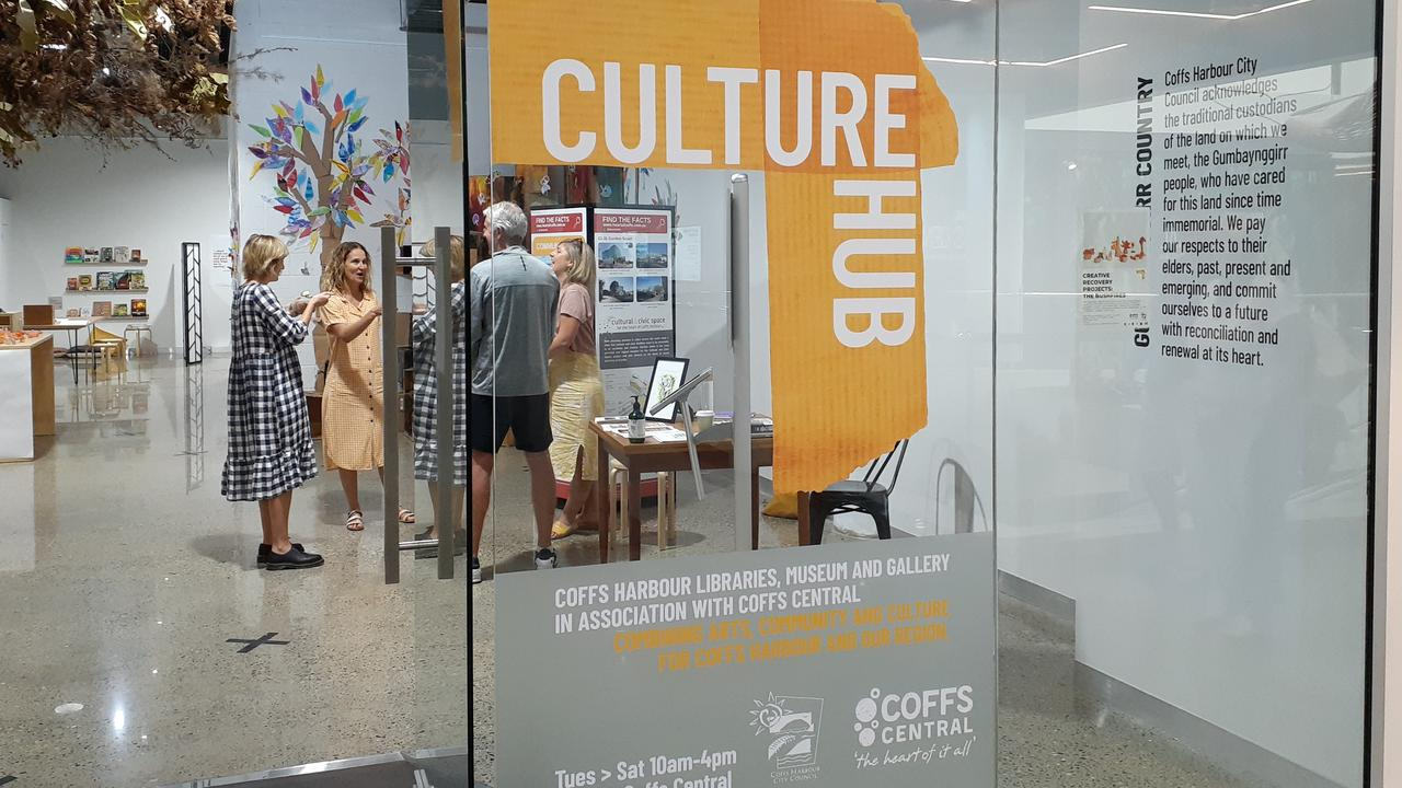 A temporary, inner-city, 'Culture Hub' has been launched in Coffs Central.