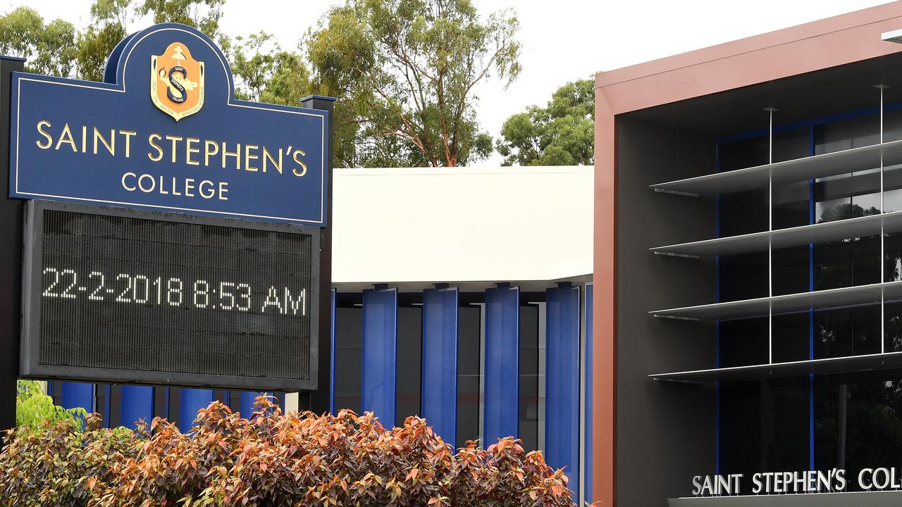 Saint Stephen's College student was injured during a PE session (AAP Image/Dave Hunt)