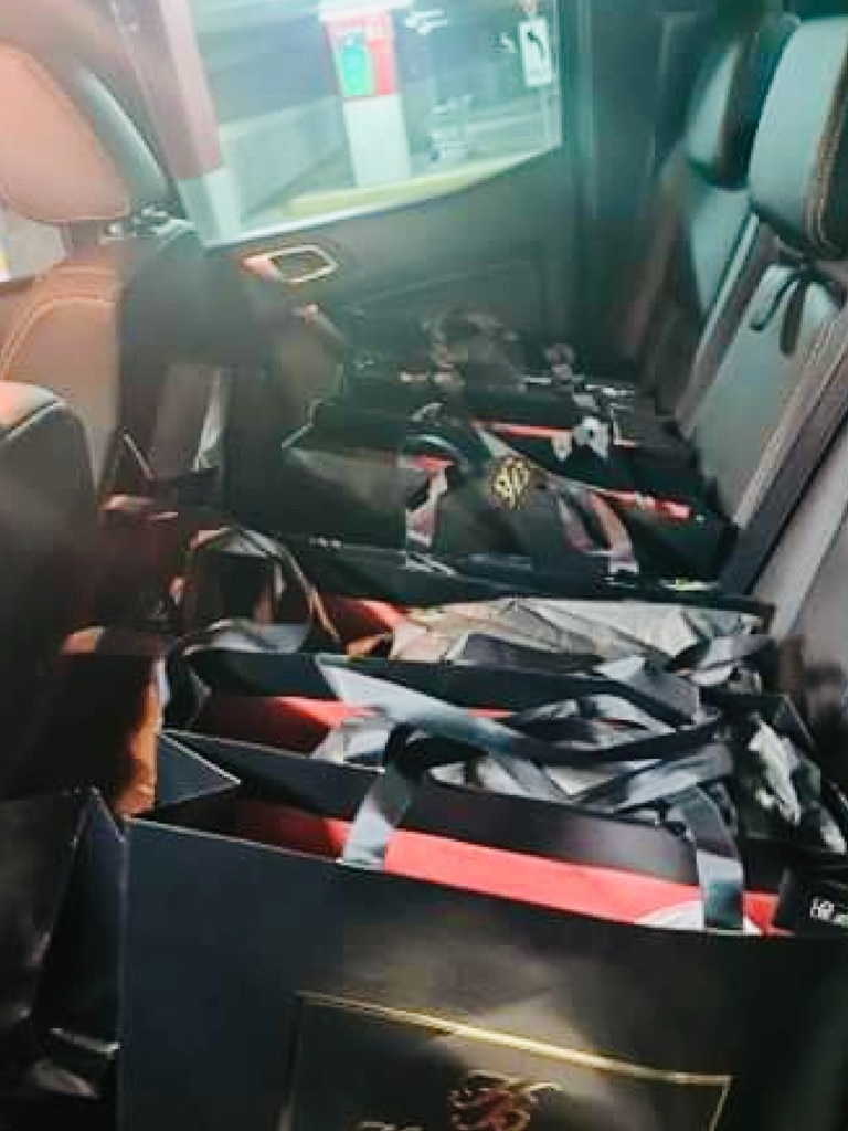 The loaded up car of a Queensland Honey Birdette customer who spent $14,000 in one go.