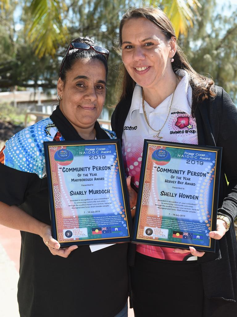 Naidoc Week – Fraser Coast Naidoc Awards – Community Person of the Year to (L) Sharly Murdoch (Maryborough) and Shelly Howden (Hervey Bay).