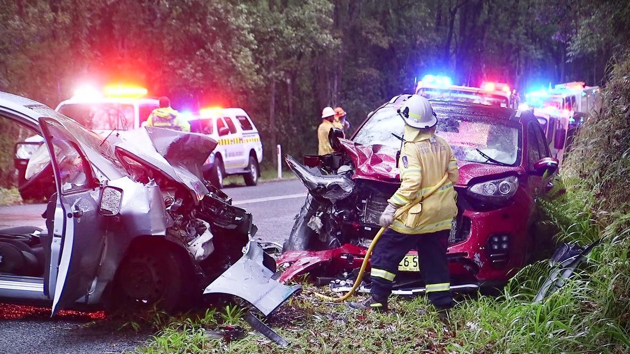Three people were hospitalised following a crash at Upper Orara on October 27.