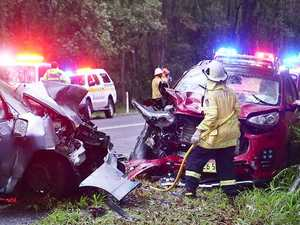 Two women, child in serious condition following crash