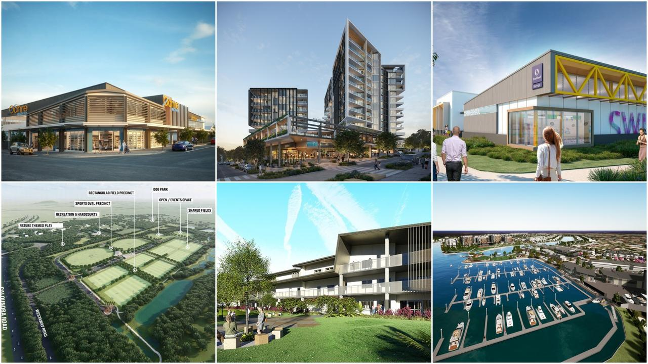 From upgraded infrastructure to new businesses, schools, sports facilities and residential communities, here are a list of projects set to change the face of Caloundra.